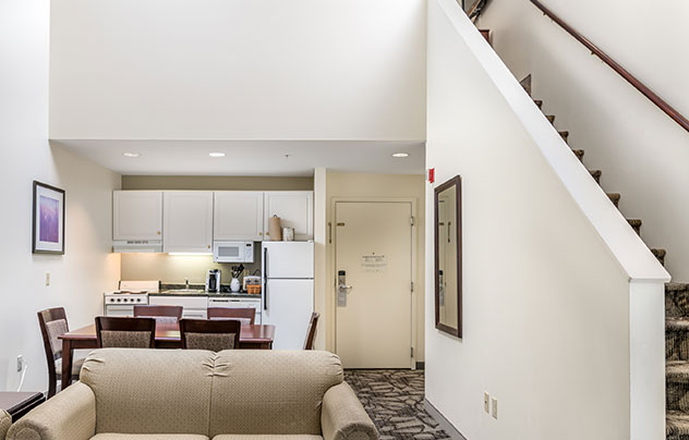 One or Two Bedroom Loft Suites at Grand Summit Hotel at Attitash, New Hampshire