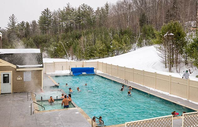 Heated Pool at Grand Summit Hotel at Attitash, New Hampshire